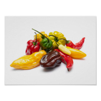 Hottest chilies poster
