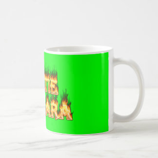 Hottie Barbara fire and flames. Coffee Mug