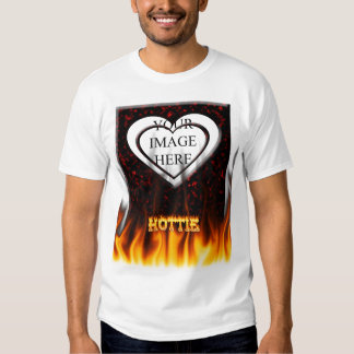 Hottie fire and flames Red marble. Shirts
