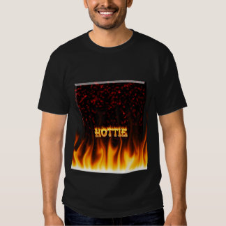 Hottie fire and flames Red marble. T Shirt