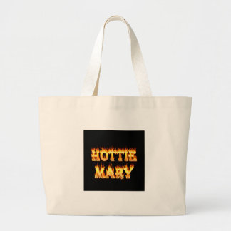 Hottie Mary fire and flames Jumbo Tote Bag