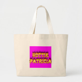 Hottie Patricia fire and flames Jumbo Tote Bag