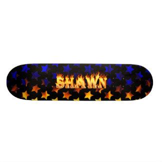 Hottie Shawn fire and flames Skate Board Decks