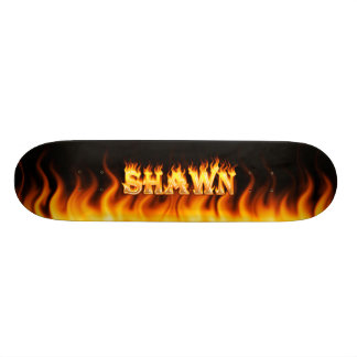Hottie Shawn fire and flames Skateboards