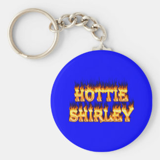 Hottie Shirley fire and flames. Key Ring