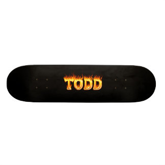 Hottie Todd fire and flames Skate Deck