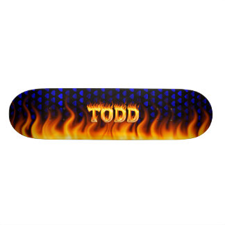 Hottie Todd fire and flames Skateboard