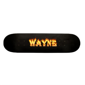 Hottie Wayne fire and flames Custom Skate Board