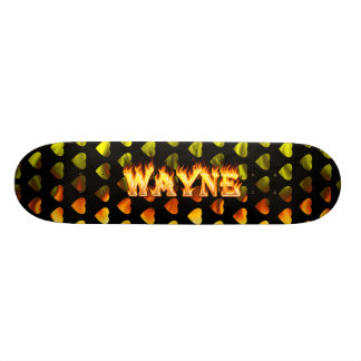 Hottie Wayne fire and flames Skate Boards