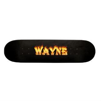 Hottie Wayne fire and flames. Custom Skate Board