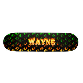 Hottie Wayne fire and flames. Skateboard