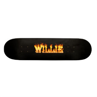 Hottie Willie fire and flames Custom Skate Board
