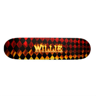 Hottie Willie fire and flames Skate Board Deck