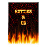 Hotties R Us fire and flames red marble