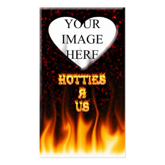 Hotties R Us fire and flames red marble Double-Sided Standard Business Cards (Pack Of 100)