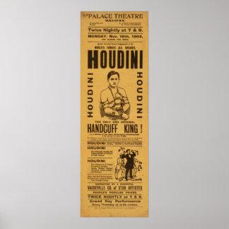 HOUDINI Escape Artist VAUDEVILLE Poster