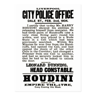 Houdini in Liverpool Postcard