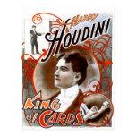 Houdini - King of Cards Postcard