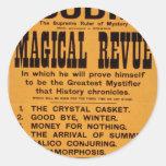 Houdini, 'Magical Revue' Retro Theatre Round Stickers