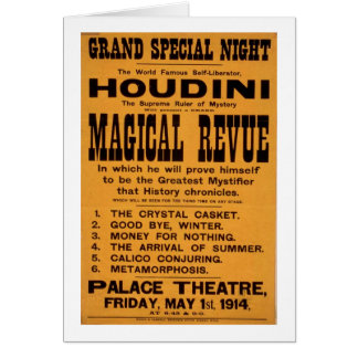 Houdini poster card