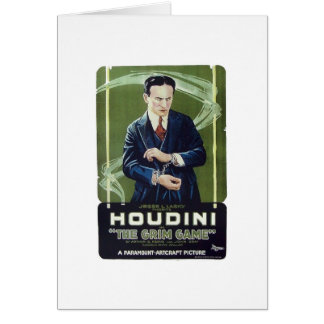 "Houdini - ""The Grim Game"" Card"