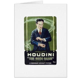 "Houdini - ""The Grim Game"" Card"