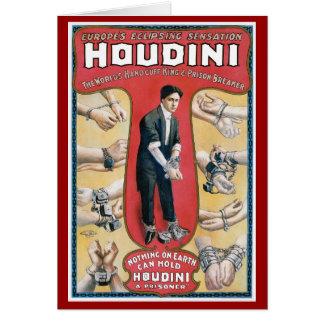 Houdini Vintage Handcuff Escape Artist Greeting Cards