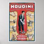 Houdini ~ Vintage Handcuff Escape Artist Print
