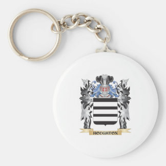 Houghton Coat of Arms - Family Crest Basic Round Button Key Ring
