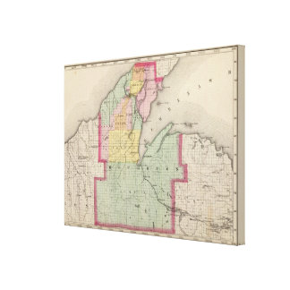 Houghton County Michigan Canvas Print