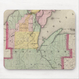 Houghton County Michigan Mouse Mat