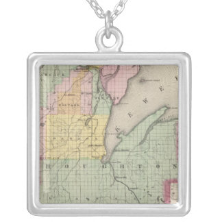Houghton County Michigan Silver Plated Necklace