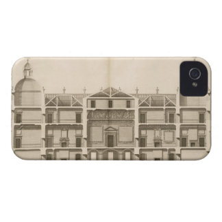 Houghton Hall: section of the West front, engraved iPhone 4 Cases