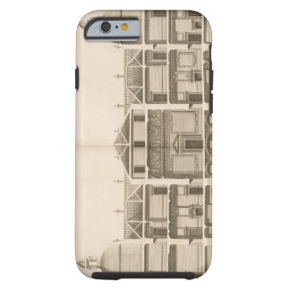 Houghton Hall: section of the West front, engraved Tough iPhone 6 Case