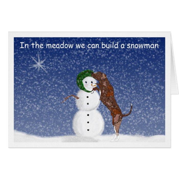 Houla and Snowman Christmas Card