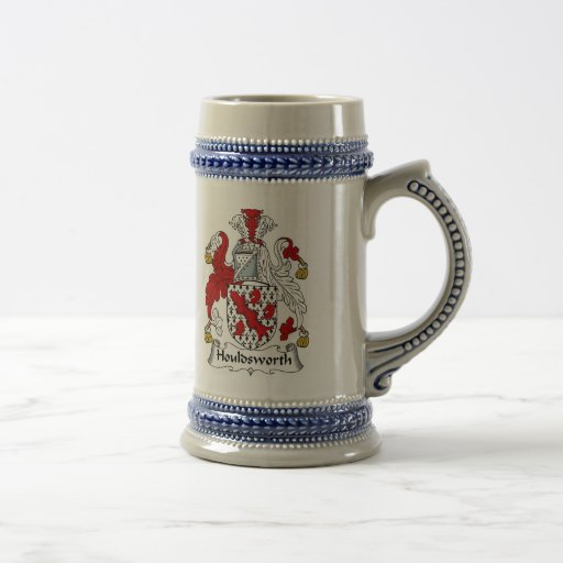 Houldsworth Coat of Arms Stein - Family Crest Coffee Mug