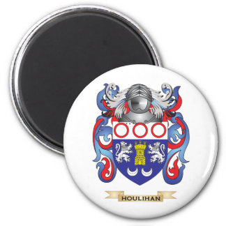 Houlihan Coat of Arms (Family Crest) 6 Cm Round Magnet