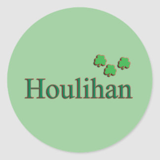 Houlihan Family Round Sticker