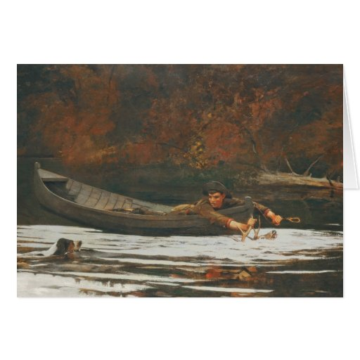 Hound and Hunter, 1892 (oil on canvas) Card