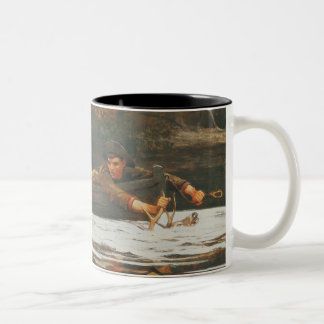 Hound and Hunter, 1892 (oil on canvas) Two-Tone Coffee Mug