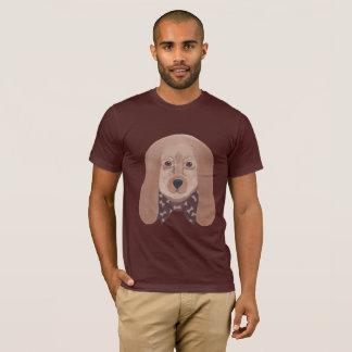 Hound Dog Face Bone Bow Tie Tee Shirts