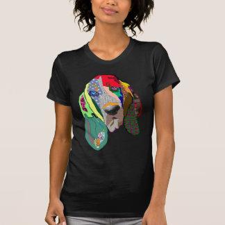 Hound Dog Graphic Art Tee Shirt