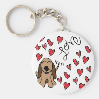 Hound Dog Love Key Ring