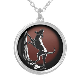Hound Dog Necklace  Hunting Dog Art Jewelry Gifts