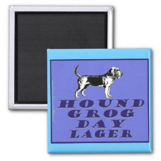 Hound Grog Day Blue Lager Square Magnet
