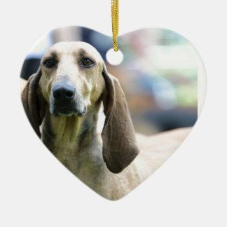 hound Italian short-haired Ceramic Heart Decoration