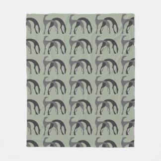 Hounds Fleece Blanket Throw