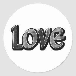 Hounds Tooth Love Stickers
