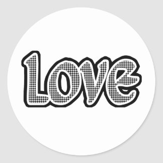 Hounds Tooth Love Sticker