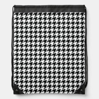 Hounds tooth Pattern Drawstring Backpacks